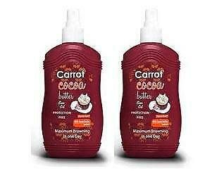 Carrot Sun Australia Cocoa Tanning Oil 200ml Duo Pack