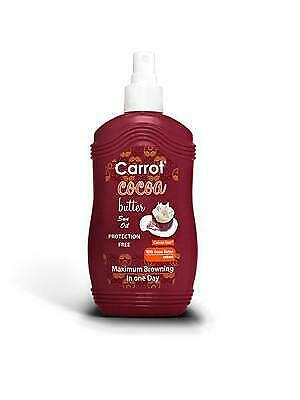 NEW Carrot Sun Australia Cocoa Tanning Oil 200ml from Celcius Skin & Beauty