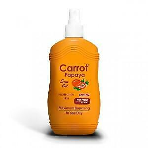 Carrot Sun Australia Papaya Tanning Oil 200ml Accelorators