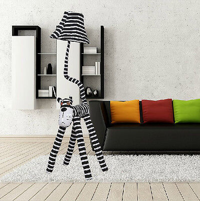 * Simplicity 1 Light Height 125CM Stripe Fabrics Originality Cartoon Floor Lamp