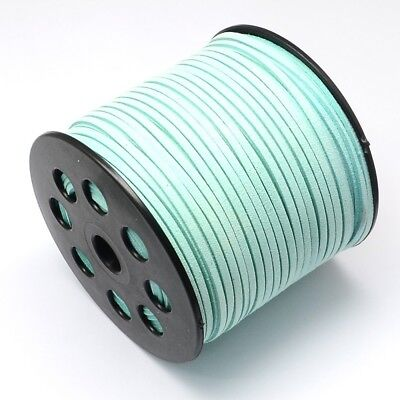 Faux Suede Cord Leather Jewelry Making Beading Thread Lace Light Cyan(R007-1085)
