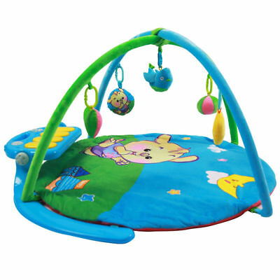 E53 Baby Fitness Bodybuilding Frame Piano Velvet Cotton Play Mat Activity Gym A