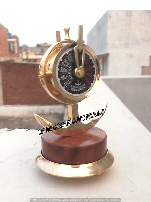 Vintage Antique Style Solid Brass Ship Engine Room Marine Decorative Telegraph .