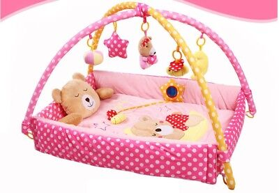 E56 Baby Fitness Bodybuilding Frame Velvet Cotton Play Mat Activity Gym A