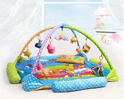 E51 Baby Fitness Bodybuilding Frame Velvet Cotton Play Mat Activity Gym A