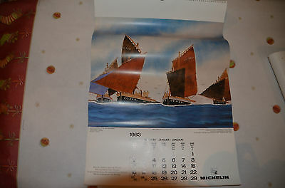 Calendrier MICHELIN 1983 Complet