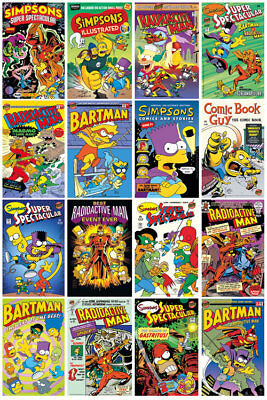 GB eye The Simpsons Comic Covers Maxi Poster 61x91.5cm FP3215