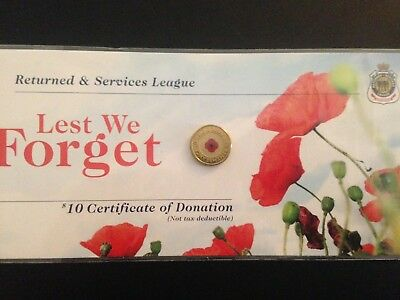 2012 Red Poppy RSL $2 Coin  Low Mintage first coloured $2 coin