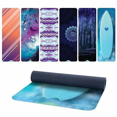 6mm Thick Exercise Yoga Mats Non-Slip Gym Fitness Pilates Physio Foam Camping