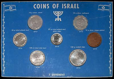 Israel Pruta Coins Set 7 Different Choice Uncirculated With 1949 25 Pruta W/O