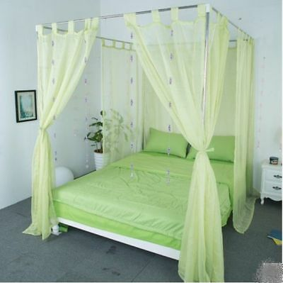 King Green Yarn Mosquito Net Bedding Four-Post Bed Canopy Curtain Netting