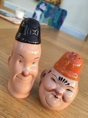 Beswick Vintage Laurel & Hardy Cruet Set Salt & Pepper