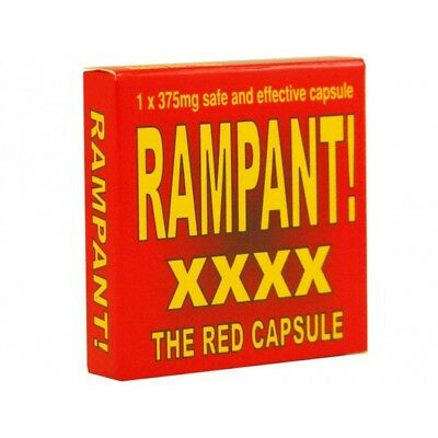 RAMPANT XXXX RED CAPSULE 300mg Erection Enhancer Sex Aid HARD ON FAST Herbal MEN