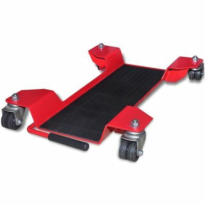 Motorcycle Dolly Centre Stand Red Heavy Duty Motorbike Turntable Wheel Mover