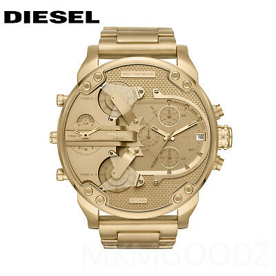 NEW Diesel Original DZ7399 Mr Daddy 2.0 Gold Stainless Steel Chrono Watch 57mm