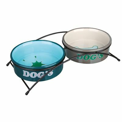 TRIXIE Set de Cuencos Eat On Feet 20 cm 2 L Comedero Bebedero Mascotas 24647