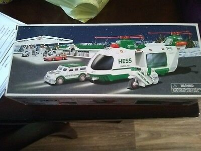 hess helicopter with motorcycle and cruiserNever played with
