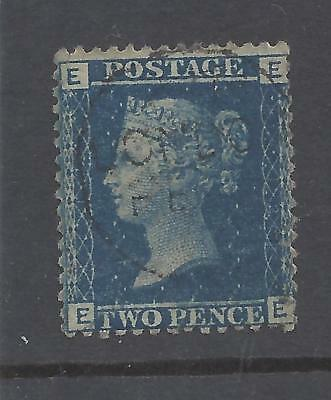 QUEEN VICTORIA 1858 2d BLUE PLATE 12 USED  SG 45 cat £140