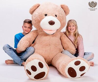 GIANT LARGE BIG HUGE TEDDY BEAR XXL 160cm 200cm 240cm 63'' BEIGE