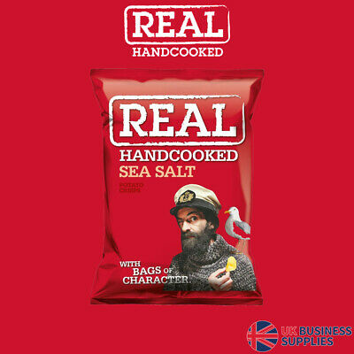 Real Crisps Hand Cooked Sea Salt Flavour 24 x 35g