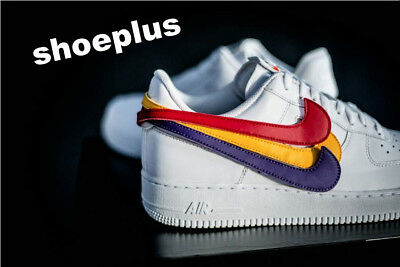 Nike Air Force 1 '07 'Swoosh Pack' Qs - White-White Men Trainer All Sizes