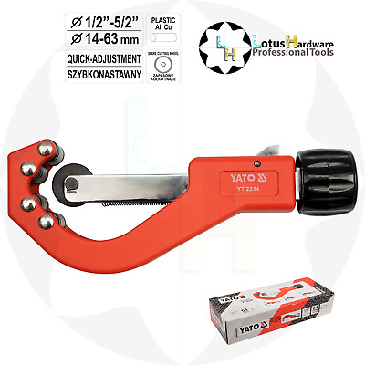 "Pipe Cutter Quick-Release - Plastic Cu Al Pipes 14-63mm (0.5""-2.5"") Yato YT-2234"