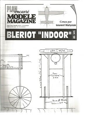 "Mod Mag N°547 - Uniquement Le Plan ""bleriot Indoor"" - Attention Pas De Revue"