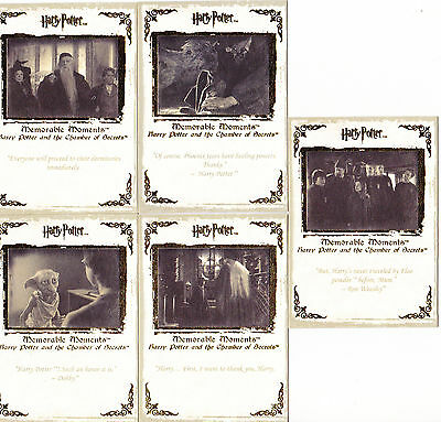 Harry Potter Memorable Moments Trading Cards - 5 Cards #31-35