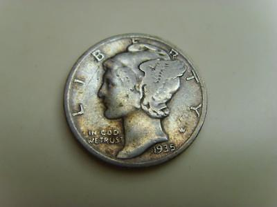 1935 Usa Dime Ten Cents Mercury United States Of America Coin