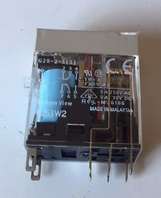 Omron G2R-2-S(S), 24VDC, 8-Pin Square Base General Purpose Plug-In Relay