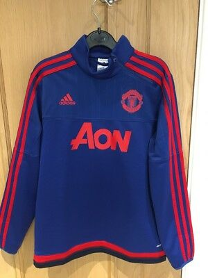 Kids Manchester United Adidas Training Top - Age 11-12 - Excellent Condition