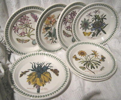 8x PORTMEIRION BOTANIC GARDENS DINNER PLATES 27cm WIDE 5 designs