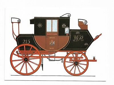 ROYAL MAIL COACH c.1830 National Postal Museum Postcard 700D