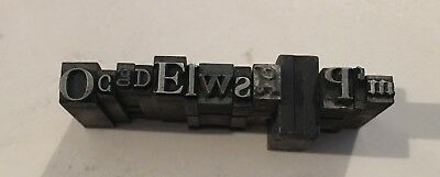 Antique Lead Printing Press Typeset Letters - Metal Block - 3 Pounds - 300+ Lot