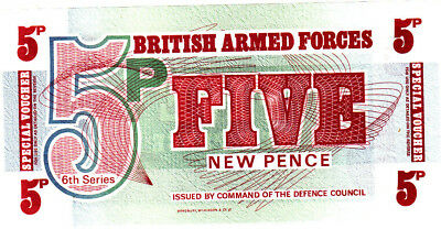 British  Armed  Forces  ==  5  NEW  PENCE  ==  P.M 44  ==  uncirculated  =======