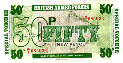 British  Armed  Forces  ==  50  NEW  PENCE  ==  P.M 46  ==  uncirculated  ======
