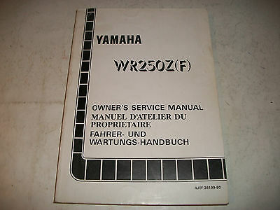 Official 1994 Yamaha Wr250Z(F)  Motorcycle Service Shop  Manual Clean Have More