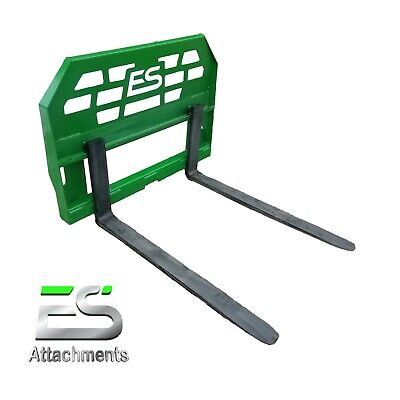 "48"" John Deere Pallet Forks quick attach, powder coated green, LOCAL PICK-UP"