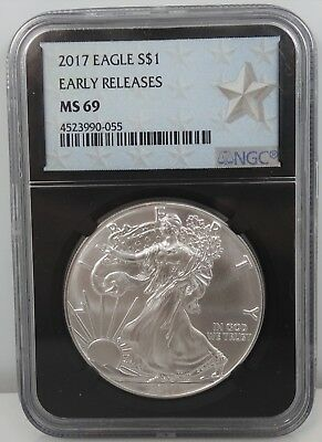 2017 American Silver Eagle Early Releases ASE Retro Star 1 oz S$1 NGC MS 69 I109