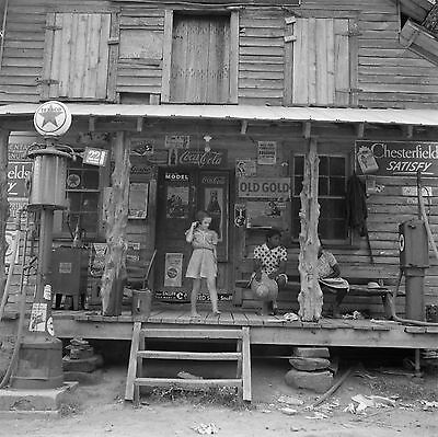 "1939 Old Photo, Country Store, Tobacco, Advertisement, Coke, 16""x16"", Vintage"
