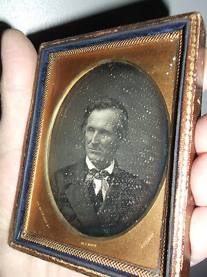 rare antique daugratype photograph by m.a. root abe lincoln no beard gettysburg