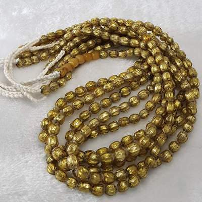 Lovely Stunning Golden Glass Old Beads Strands Necklaces