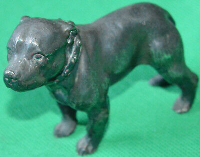 Good antique silver plate Staffordshire bull terrier figure