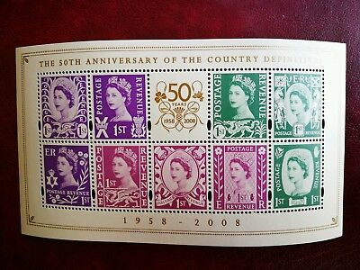 50th Anniv of Country Definitives Minisheet (1st Issue) 2008 MNH (SG MSNI1153)