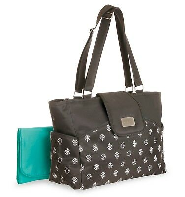 Carters Grey Carry It All Tote Diaper Bag