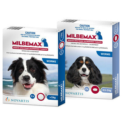 NEW Milbemax All Wormer for Dogs Over 5kg 2 Pack