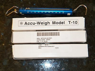 YAMATO Accu-Weigh Hanging Tube Spring Scale - Model T-10 Lbs 5kg 10lbs NEW NIB