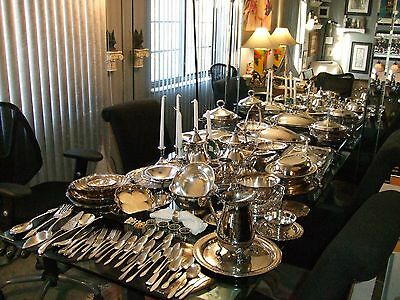 Vintage silverplate Wedding/Banquet/Catering Mixed Lot Gorham+MORE 107 pcs. lot5
