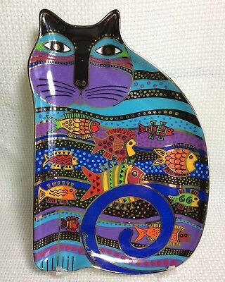 "Royal Doulton ""cat Fish"" By Laurel Burch 1995 #ra1005 Franklin Mint Dish"