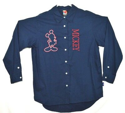 VTG Disney Unlimited by Jerry Leigh Medium Embroidered Mickey Button Down Shirt